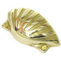Brass Shell Drawer Pull