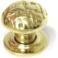 Brass Lattice Cabinet Knob