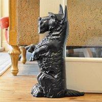Black Scottie Dog Door Stop - Life Size*