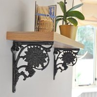 Sunflower Cast Iron Shelf Bracket