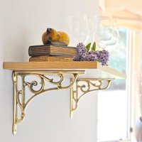 Brass Oblique Shelf Bracket