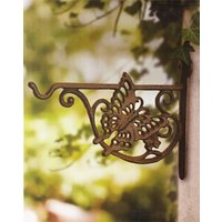 Butterfly Cast Iron Hanging Basket Bracket