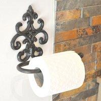 Intricate Fleur De Lys Toilet Roll Holder