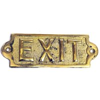 Brass Exit Sign