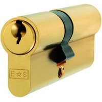 Double Euro Cylinder Lock - Polished Brass