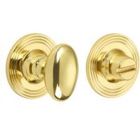 Croft 2247 Bathroom Oval Knob Turn and Release Reeded Covered Rose