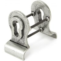 Blacksmith Pewter Patina Euro Door Pull with Back-To-Back Fixings