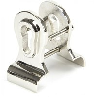 Period Euro Door Pull with Back-To-Back Fixings - Polished Nickel