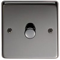 Black Nickel Single Dimmer Switch - 400w