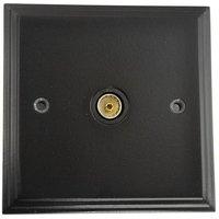 Black TV Coax Socket