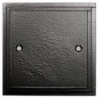 Black Single Blank Plate