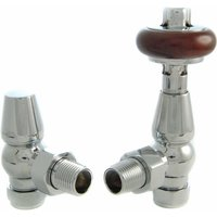 Faringdon Thermostatic Radiator Valve - Chrome Angled TRV