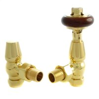 Faringdon Thermostatic Radiator Valve - Brass Angled TRV