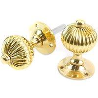 Regency Door Knobs - Polished Brass