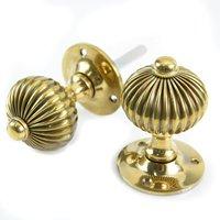 Regency Door Knobs - Aged Brass