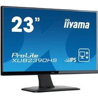IIYAMA Moniteur 23 1920x1080 Dalle IPS Pied réglable Pivot 250 cd/m² Haut parleurs VGA DVI HDMI 5ms TCO