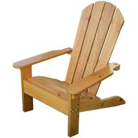 KIDKRAFT Chaise de Jardin Adirondack  Miel - En bois
