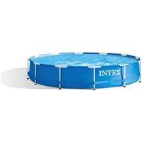 Intex kit piscinette metal frame ronde tubulaire (ø)3,66 x (h)0,76m