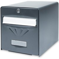 BURG WACHTER Boîte aux lettres Balnéaire en acier galvanisé - 2 portes - Gris anthracite