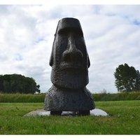 ORITO Fontaine de jardin avec statue céramique 70x37x33cm
