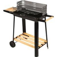 CALABRIA Barbecue à charbon - Acier chromé - 84,5x42x78,5 cm