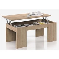MEUBLES. Table Basse à Plateau Relevable coloris chêne canadien avec une finition de haute qualité. Moderne et très pratique. Livrée en kit .Dimension