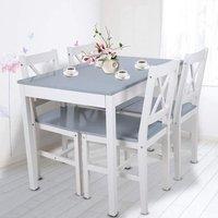 MEUBLES. Structure robuste en matériau de première qualité? Cet ensemble de table à manger en bois avec 4 chaises est fabriqué en bois massif de haute