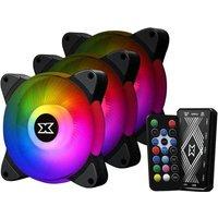 XIGMATEK Galaxy III Essential BX120 ARGB Black (Pack 3) Ventilateur 120mm A RGB pour boitier PC