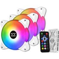 XIGMATEK Galaxy III Essential BX120 ARGB ARCTIC (Pack 3) Ventilateur 120mm A RGB pour boitier PC