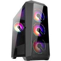 ABKONCORE BOITIER PC H300G Sync Moyen Tour rétro éclairage RGB Black Verre trempé Format ATX (ABKO H 300G SYNC)