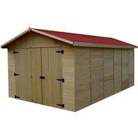 Garage 15,60m² en bois - Toiture en plaques ondulées