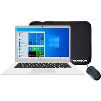 PC Portable THOMSON T14C4WH64MS 141 HD Intel Celeron 4 Go Stockage 64 Go SSD W10 S AZERTY Sacoche et Souris
