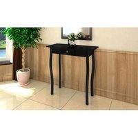 MEUBLES. Cette élégante table console en noir brillant sera un véritable point d'admiration dans votre chambre. Cette table se caractérise par sa joli