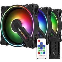 ABKONCORE HR120 (Pack de 3) Ventilateur 120mm A RGB pour boitier