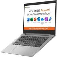 PC Portable Ultrabook LENOVO IdeaPad 1 14IGL05 14 HD Pentium N5030 RAM 4 Go Stockage 64Go Win10S AZERTY Office 1 an