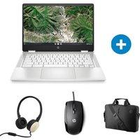 Chromebook HP 14a ca0057nf 14'' FHD Pentium RAM 8 Go Stockage 64Go Chrome OS Souris Casque Sacoche