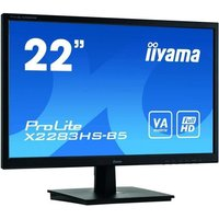 Moniteur IIYAMA 21.5'' LED 16:9 4ms Dalle VA 1920x1080 VGA Display Port HDMI Haut parleurs Black X2283HS B5