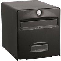 BURG WACHTER Boîte aux lettres Balthazar en acier galvanisé - 2 portes - Noir