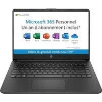 HP 14s dq0045nf PC Portable 14 HD Intel celeron 4 Go Stockage 64 Go Windows 10 Office 365 Licence 1 an AZERTY