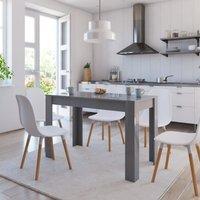 MEUBLES. Cette table de salle à manger, con?ue avec des lignes simples et propres, sera un excellent choix pour votre salle à manger ou cuisine. L'élé