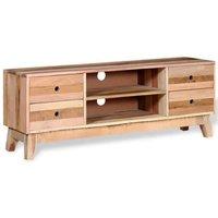 MEUBLES. Ce meuble TV en style antique est très pratique et a beaucoup d'espace de rangement grâce aux tiroirs spacieux et aux étagères. Avec son aspe