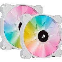 CORSAIR Ventilateur SP Series White SP140 RGB ELITE Diametre 140mm LED RGB Fan with AirGuide Dual Pack (CO 9050139 WW)