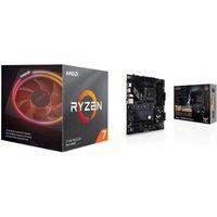 ASUS Pack carte mère Tuf Gaming B550 PLUS AMD Processeur Ryzen 7 3700X Wraith Prism cooler