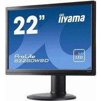 IIYAMA Ecran LED ProLite B2280WSD1 22 1680 x 1050 Dalle TN DVID VGA Black