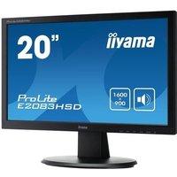 Ecran PC IIYAMA ProLite E2083HSD B1 19 5 1600x900 VGA DVI Haut parleurs 250cd/m² 12mln:1 ACR 5ms TCO