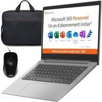 PC Portable Ultrabook LENOVO IdeaPad 1 14ADA05 14''HD AMD 3020E RAM 4 Go Stockage 64Go W10S 1 an Office Sacoche Souris