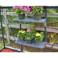 PALRAM Kit d'étagères PVC double pour serres de jardin