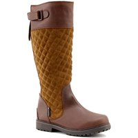 Ascot Brown/Tan Waterproof High Leg Riding Boots