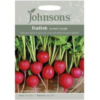 Johnsons Radish Scarlet Globe Seeds