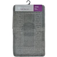 2 Piece Luxurious Bath Mat Set Dark Grey